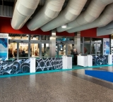 ESEF / Technishow 2014 - Foto 3 - Entree met 'lage' Expo Walls