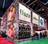 Event '13 - Foto 1 - Eigen stand met op maat gemaakte 'plantenwand'
