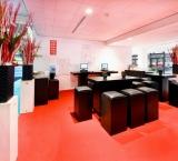 Horecava 2012 - Foto 9 - Exposanten lounge met kolomdecoratie