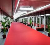 ISEurope 2013 - Foto 1 - Doorloop met lounge blokken en kentia palmen