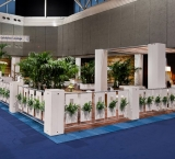 Mets 2013 - Foto 2 - Exhibitor Lounge met groene afscheiding