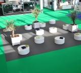 SSA 2013 - Foto 1 - Beginplein met lounge blokken en olijfbomen